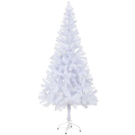 Árbol de Navidad artificial con soporte 180 cm 620 ramas - Blanco