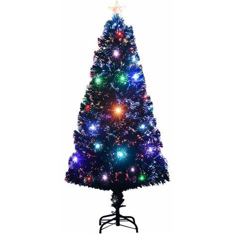 Árbol de Navidad artificial con soporte/LED 120 cm 135 ramas