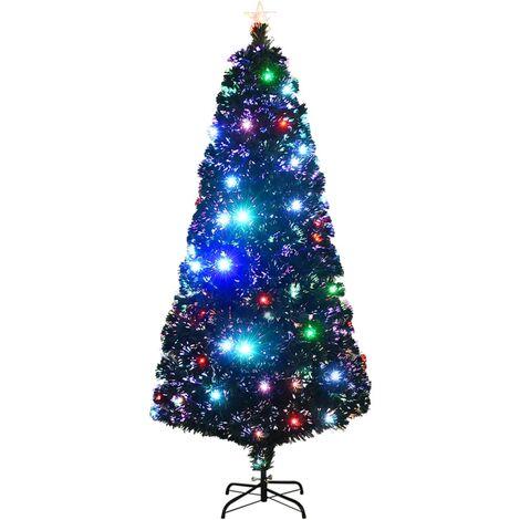 Árbol de Navidad artificial con soporte/LED 180 cm 220 ramas