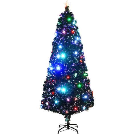 Árbol de Navidad artificial con soporte/LED 210 cm 280 ramas