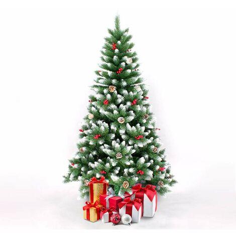 Árbol de Navidad artificial de 180 cm decorado con adornos BERGEN