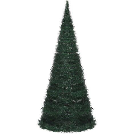 Árbol de Navidad artificial de cuerda emergente LED verde 210cm