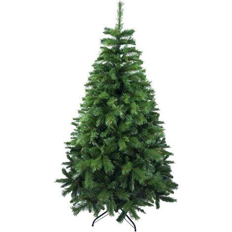 Árbol de Navidad Artificial de Pino Maxi-Relleno Abeto Doble Hojas C/Soporte Metálico 150-240cm