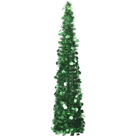 Árbol de Navidad artificial plegable PET verde 180 cm