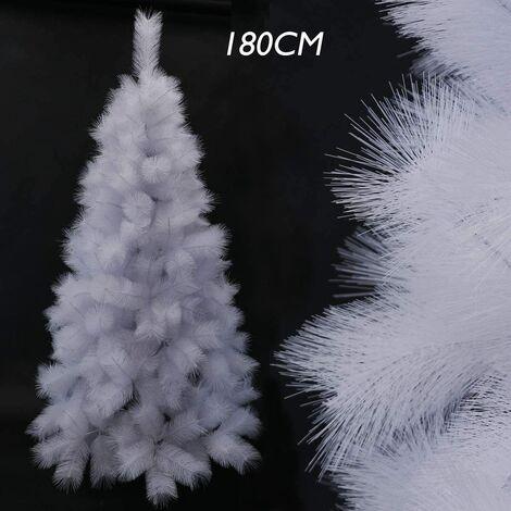 Árbol de Navidad Blanco, Árbol de Agujas de Pino, Árbol Navidad Artificial Blanco, MAterial PVC, Decoración Navideña 120CM - 210CM