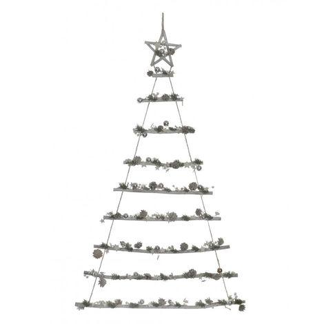 Árbol de Navidad Colgante de Madera Natural , Diseño Original perfecto para Decoración Navideña 90X2X115 cm - Hogar y Más