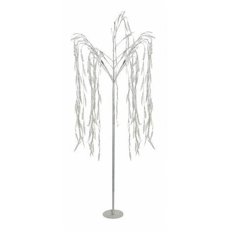 Árbol de Navidad con Luz LED en PVC, Decoración Navideña/Original, ideal para Decorar e iluminar exterior, 80x150 cm