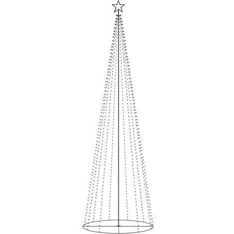 Árbol de Navidad cono 752 LEDs coloridos adorno 160x500 cm