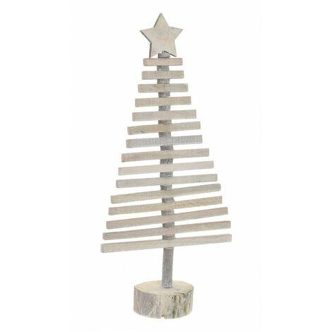 Árbol de Navidad de Madera, Diseño Original/Navideño con Estrella en la punta, ideal para Decorar. 24X52 cm.-Hogarymas-