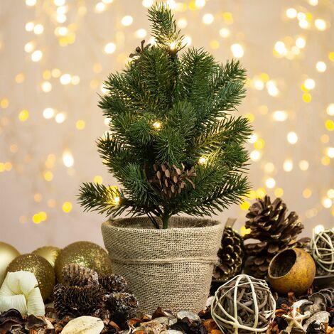 Árbol de Navidad de Mesa LED Blanco Cálido 2800K - 3200K