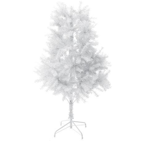 Árbol de Navidad de pino artificial con patas de metal sólido perfecto para la decoración de vacaciones en interiores y exteriores (blanco, 6 pies) LAVENTE