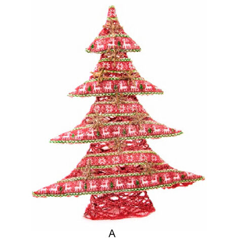 Árbol de Navidad de Tela con 25 Leds. 2 modelos A
