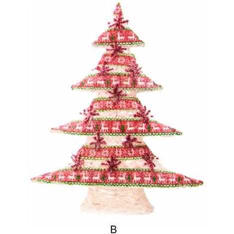 Árbol de Navidad de Tela con 25 Leds. 2 modelos B