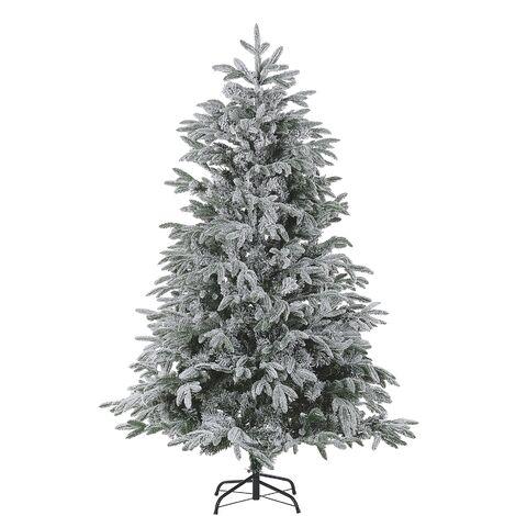 Árbol de Navidad efecto nieve 180 cm blanco BASSIE