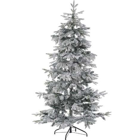 Árbol de Navidad efecto nieve 180 cm blanco TOMICHI