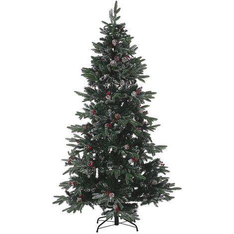 Árbol de Navidad efecto nieve 180 cm verde DENALI