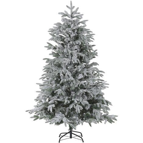 Árbol de Navidad efecto nieve 210 cm blanco BASSIE