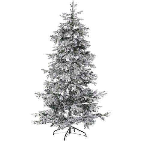 Árbol de Navidad efecto nieve 210 cm blanco TOMICHI