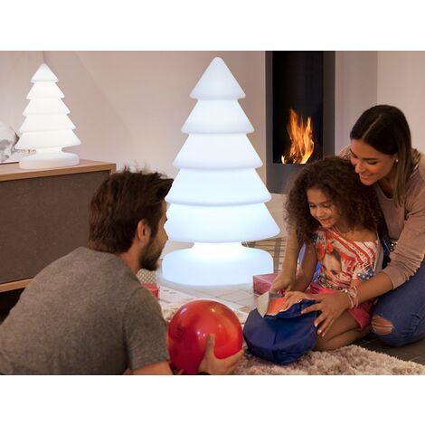 Árbol de Navidad exterior MOOVERE H100cm en polietileno LED luz fría por cable
