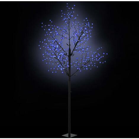 Árbol de Navidad flores interior exterior LED IP44 300cm azul