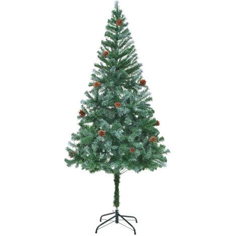 arbol de Navidad glaseado con pinas 180 cm