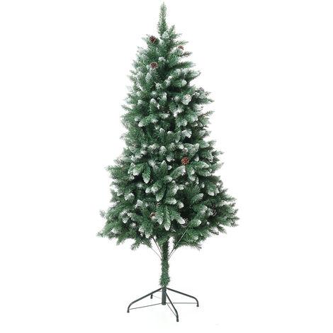 Árbol de navidad l-6FT verde artificial 1000 rama punta con 34 conos de pino adorno árbol para casa fiesta fiesta decoración navideña LAVENTE