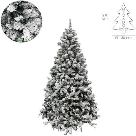 Arbol De Navidad Nevado 210 cm. 1106 Ramas. Hojas De Pvc Con Nieve Artifical