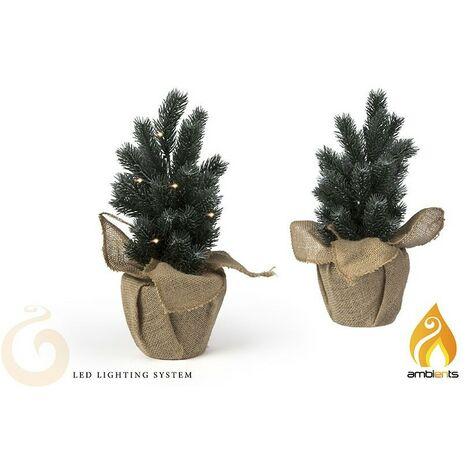 Árbol de Navidad Pequeño con Luces LED, Ideal para colocar en cualquier estancia. Original/Navideño 125x125x35 mm.-Hogarymas-