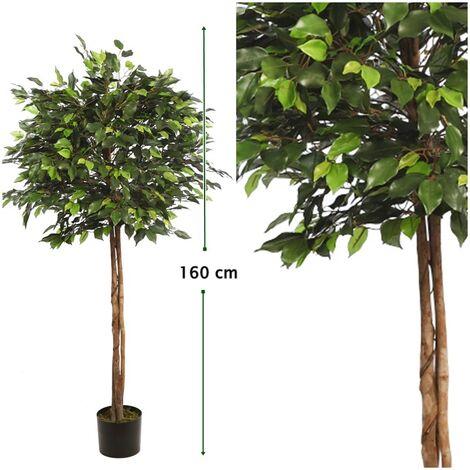 Arbol Ficus Copa Ancha Artificial. Altura 160 Cm