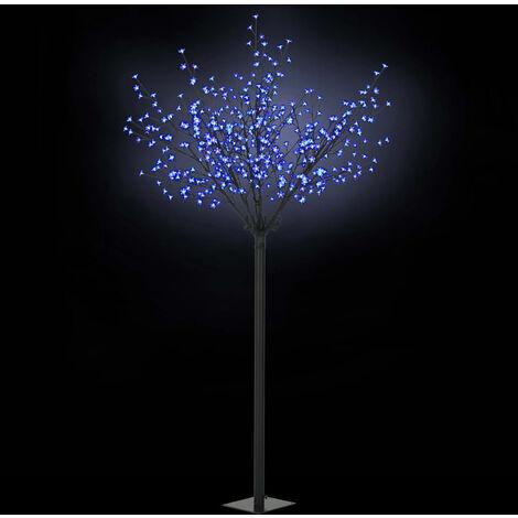 Árbol flores de Navidad interior exterior LED IP44 250cm azul