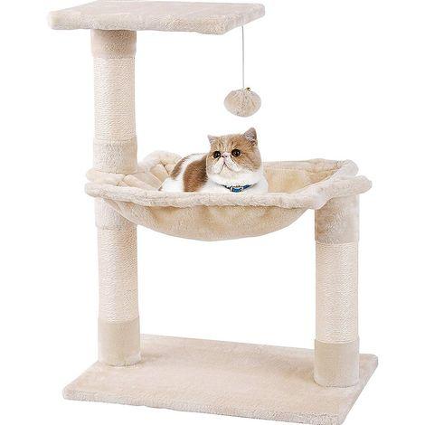 Árbol para gatos Árbol para gatos beige 70CM muebles para gatos tronco de gato árbol para escalar
