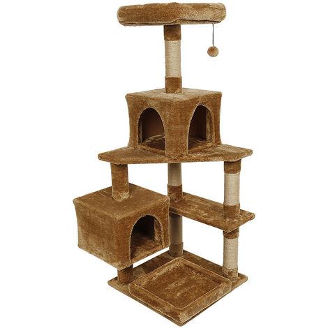Árbol para gatos, cueva + acostado + juguete, multicapa (marrón)