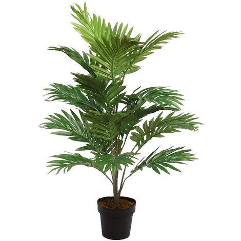 Arbol planta Areca artificial en maceta. Realista. Altura 92 Cm