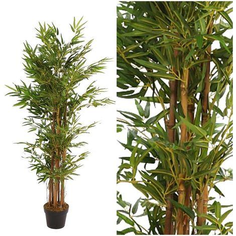 Arbol planta Bambú artificial con maceta. Realista. Altura 140 Cm