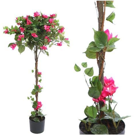 Arbol planta Bouganvillea artificial con maceta. Realista. Altura 125 Cm