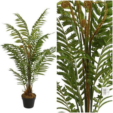 Arbol Planta Helecho Arboreo artificial con maceta. Realista. Altura 120 Cm