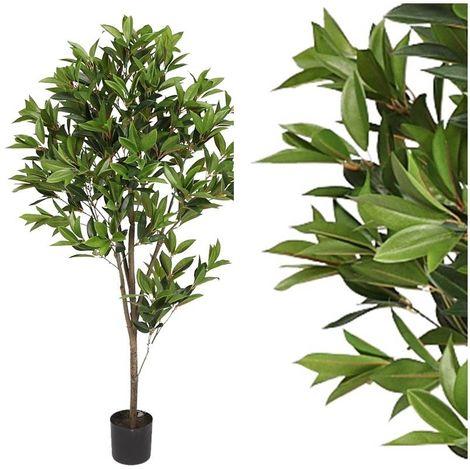 Arbol planta Laurel artificial con maceta. Realista. Altura 132 Cm