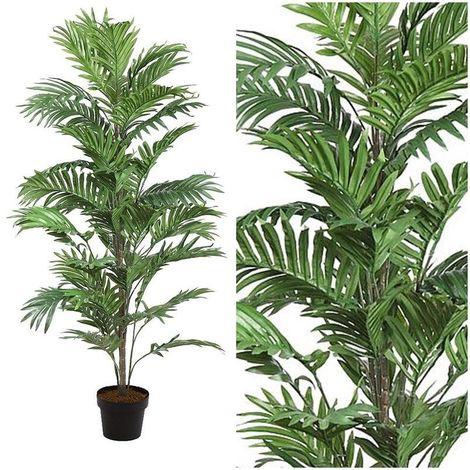 Arbol planta palmera Areca artificial con maceta. Realista. Altura 122 Cm