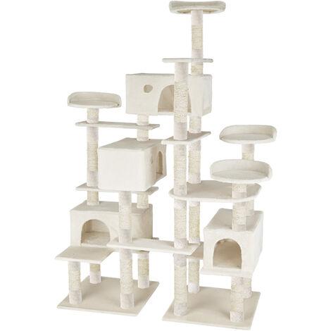 Árbol rascador para gatos Charly - árbol rascador para gatos, parque de juegos para gatos con columnas de sisal, juguete para gatos con casetas