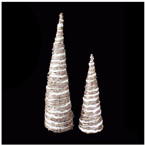 Árboles de Navidad con luz led para decoración (60 cm / 40 cm) metal