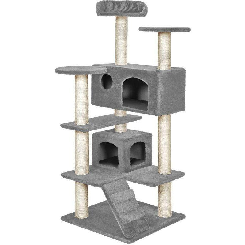 Arbre à chat 131 cm gris - Gris