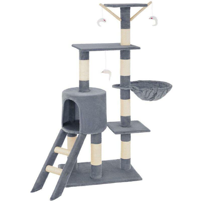 Arbre à chat 142 cm gris - Gris