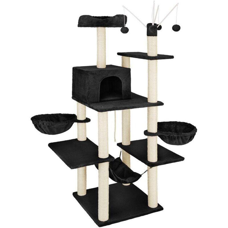 Arbre à chat 165 cm noir - Noir