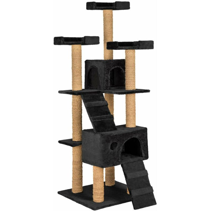 Helloshop26 - Arbre à Chat 169 cm noir - Noir