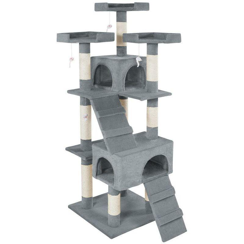 Arbre à chat 170 cm gris - Gris
