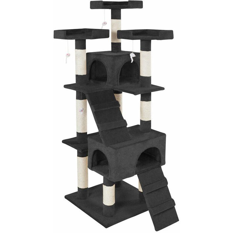 Arbre à chat 170 cm noir - Noir
