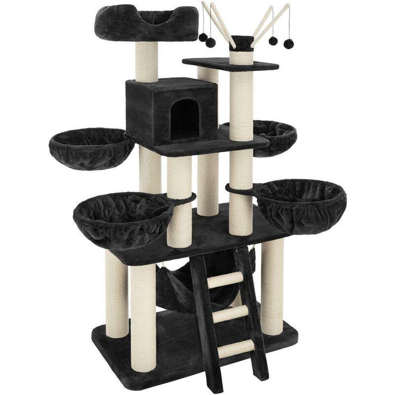 Arbre à chat 195 cm noir/blanc - Blanc