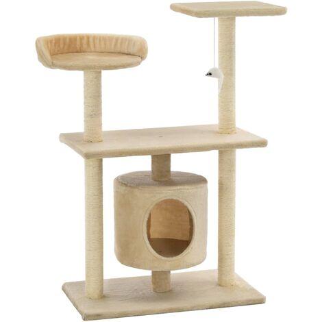 Arbre à chat avec griffoir en sisal 95 cm Beige