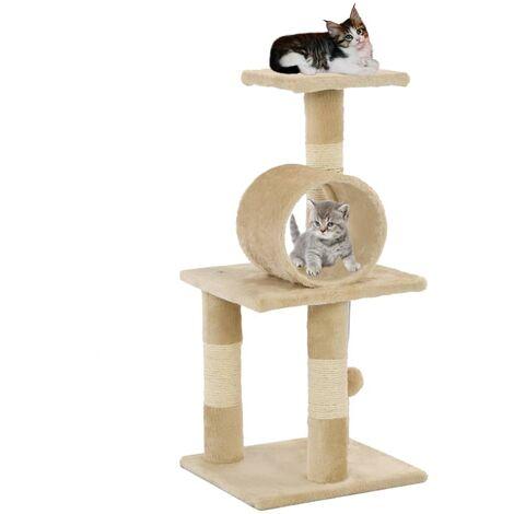 Arbre à chat avec griffoirs en sisal 65 cm Beige