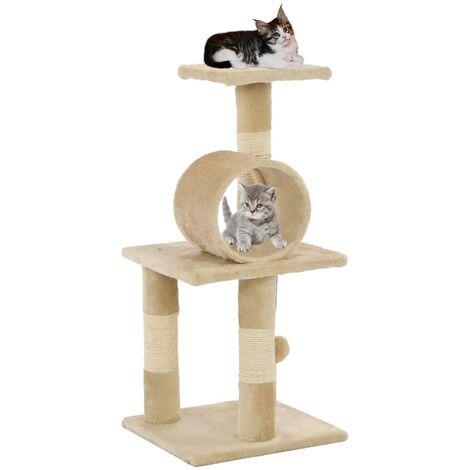 Arbre a chat avec griffoirs en sisal 65 cm Beige